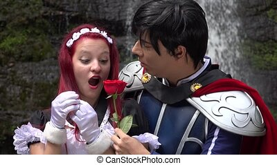 Romantic Prince And Female Cosplay