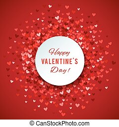 Romantic red heart background. Vector illustration