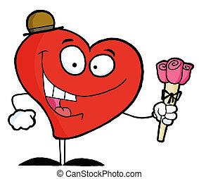 Romantic Red Heart Man