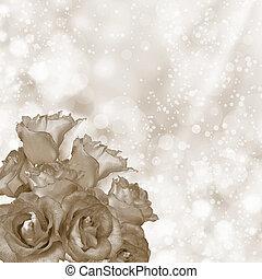 Romantic roses background