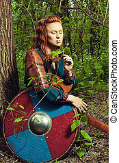 Romantic scandinavian woman - Pretty redhead scandinavian...