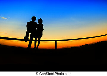 romantic Scene of love, valentine's day