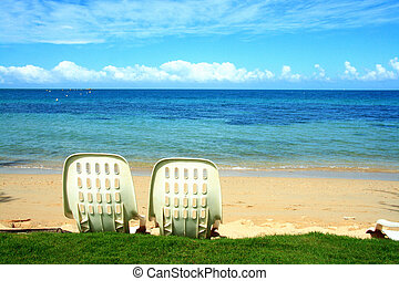 Romantic Scene on the Beach