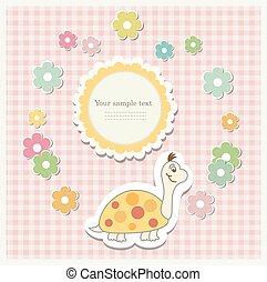 Romantic scrap booking template for invitation, greeting,...