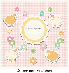 Romantic scrap booking template for invitation