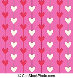 Romantic Seamless Heart Pattern Background For Valentines Day Holiday
