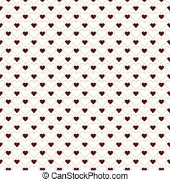 Romantic seamless pattern with hearts. Beautiful vector ...