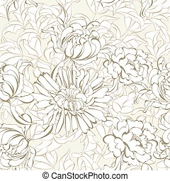 Romantic seamless wallpaper with a lot of flowers
