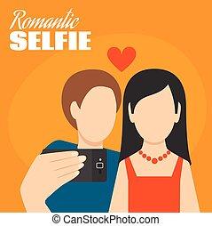 Romantic Selfie Poster
