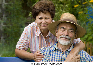 romantic senior couple II