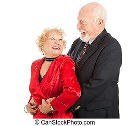 Romantic Senior Dancers