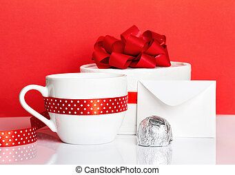 Romantic serving coffee and candys