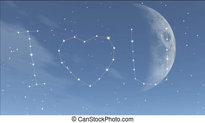 romantic stars twinkle in the night sky, twinkling stars...