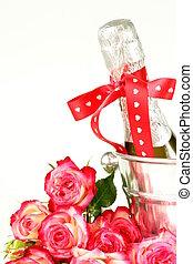 romantic still life champagne