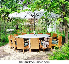 outdoor cafe terrace - Romantic summer outdoor cafe terrace