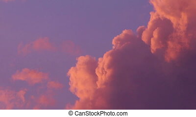 Romantic sunset clouds