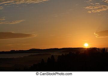romantic sunset - Abendrot und Sonnenuntergang bei...