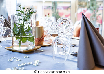 romantic table decoration with attention to detail - a very...