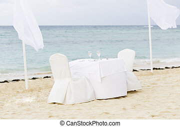 Romantic Table for Two on the Beach