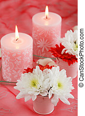 Romantic table setting for Valentine, birthday or other event