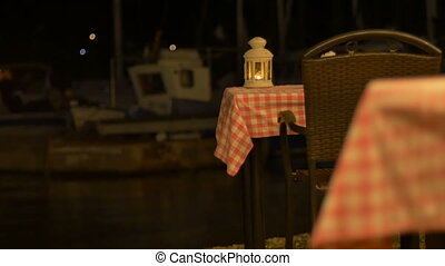 Romantic Tables near Harbor