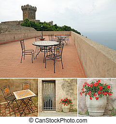 romantic terrace with view