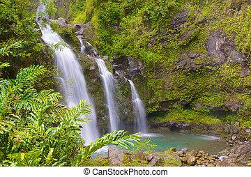 Romantic Triple Waterfall