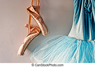 romantic tutu and ballet shoes