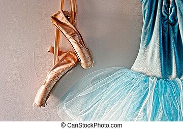 romantic tutu and ballet shoes