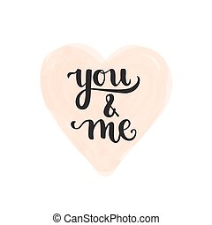 Romantic Typographic poster - Romantic Valentine day card....