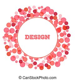 romantic valentine Abstract Halftone dot Logo circle Design Element with place for text on white background, vector illustration