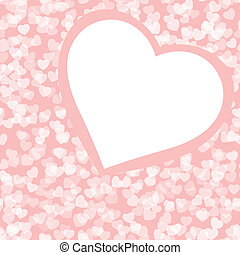 Romantic valentine background template. EPS 8