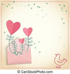 Romantic Valentines Day Postcard