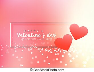 romantic valentine's day poster design background