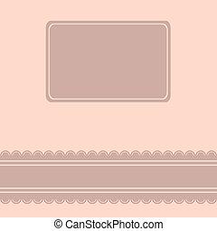 Romantic vector Card.