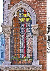 Romantic Venetian window
