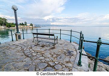 romantic view Adriatic Sea, Opatije - romantic view Adriatic...