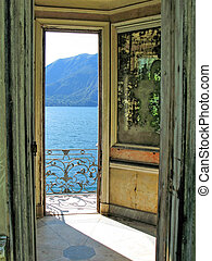 Romantic view to the lake Como, Italy