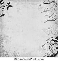 Romantic vintage background in skrapbooking style (1 of set)
