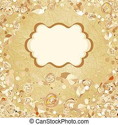 Romantic vintage rose background. EPS 8
