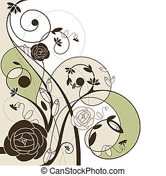 romantic wedding card with roses vector illustration