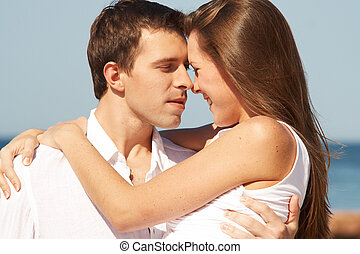 Romantic young couple