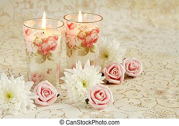 romantico, candele