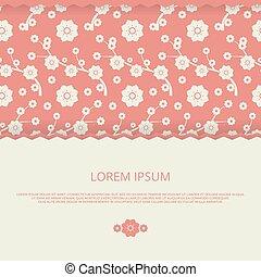 romantico, invito, floreale, vettore, matrimonio, cartelle, bandiera, design.