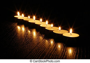 romantico, luce candela