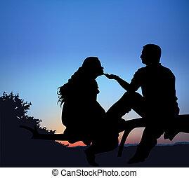 romantico, notte