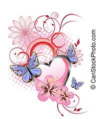 romantico, scheda, augurio