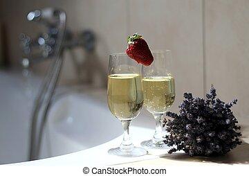 romanticos, banho