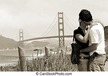 romanticos, beijo