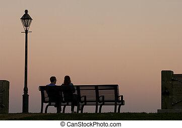 romanticos, noite